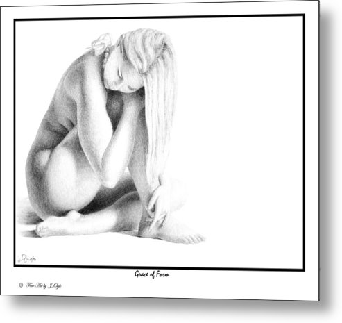 Print Metal Print featuring the drawing Grace Of Form print only by Joseph Ogle