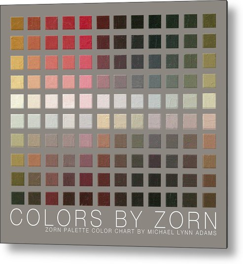 Zorn Color Palette Metal Print featuring the painting Colors By Zorn by Michael Lynn Adams