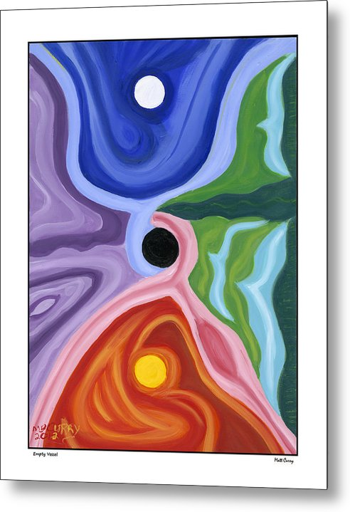 Abstract Metal Print featuring the painting Empty Vessel by Matt Curry