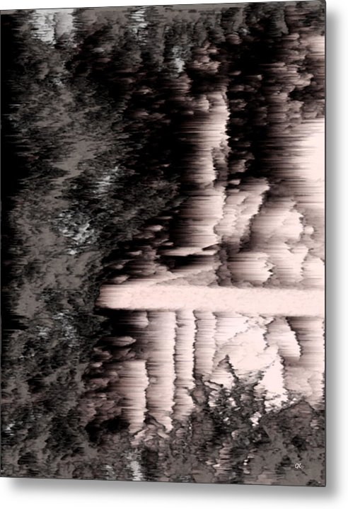 Abstract Metal Print featuring the digital art Illusion by Gerlinde Keating - Galleria GK Keating Associates Inc