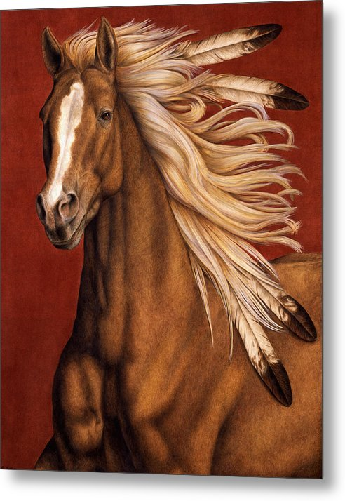 Horse Metal Print featuring the painting Sunhorse by Pat Erickson