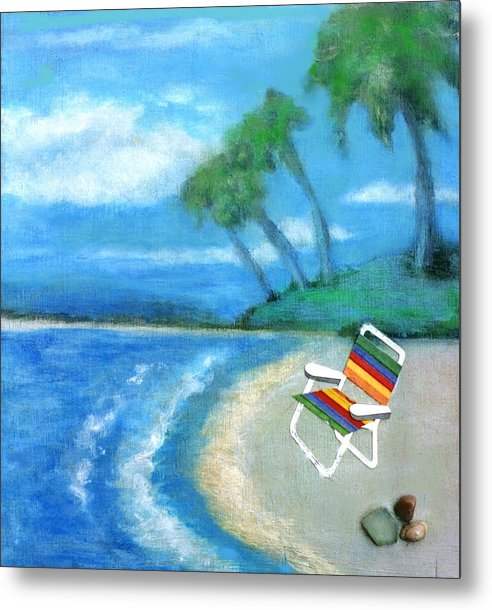 Beach Metal Print featuring the painting Three Beaches B by Mary Ann Leitch