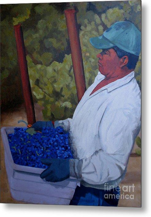 Vineyard Metal Print featuring the painting Vineyard Harvest IIi by Donna Schaffer