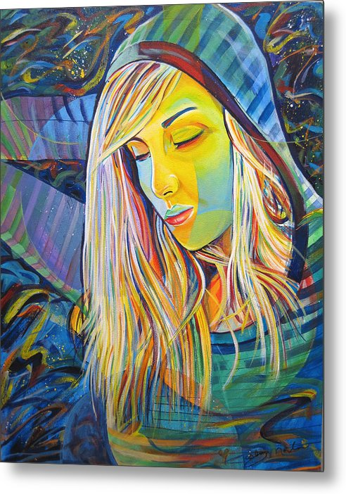 Colorful Metal Print featuring the painting My Love by Joshua Morton