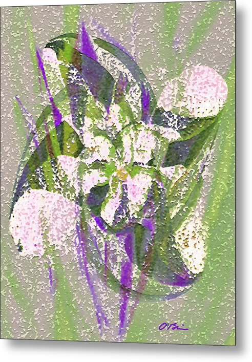 Flowers Metal Print featuring the digital art The Bouquet by Claudia O'Brien