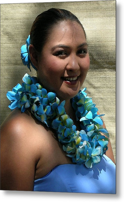 Hawaii Iphone Cases Metal Print featuring the photograph Hula Blue by James Temple