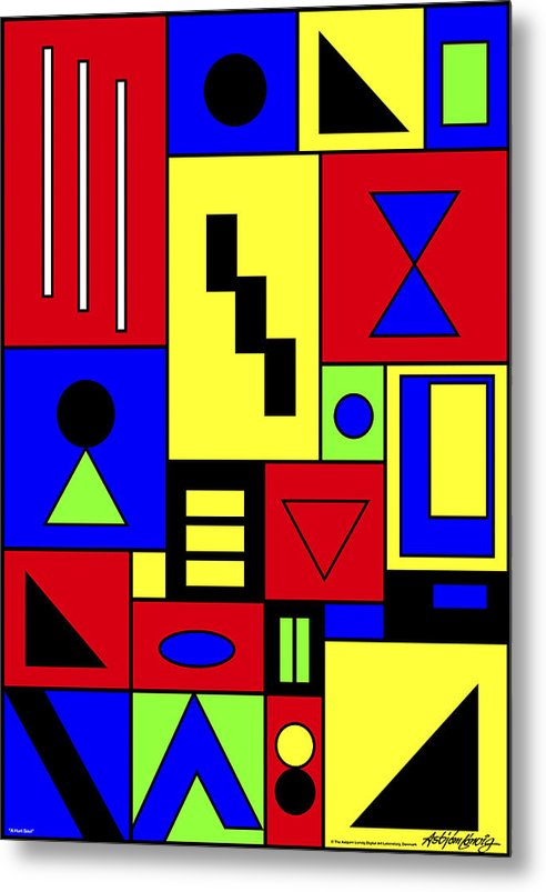 Native Art Metal Print featuring the digital art A Hurt Soul by Asbjorn Lonvig