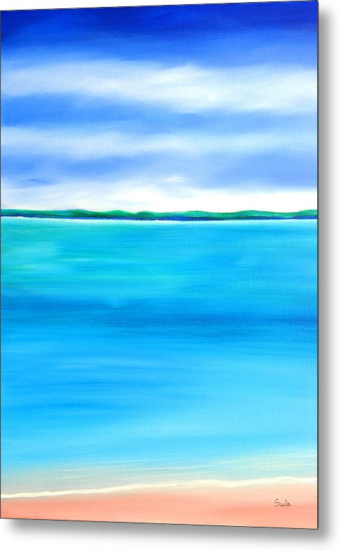 Caribbean Metal Print featuring the painting Sea Shallow by Sula Chance