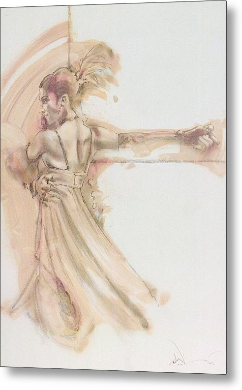 Dance Metal Print featuring the mixed media Tango Study 2 by Charles Willmott