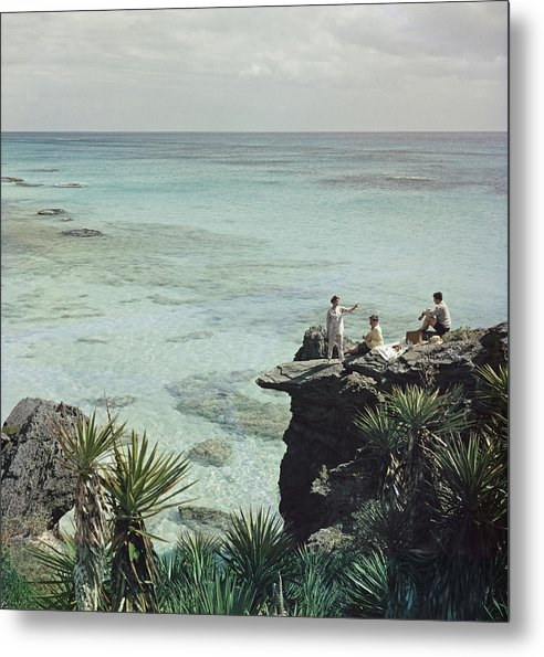 People Metal Print featuring the photograph A Nice Spot For Lunch by Slim Aarons