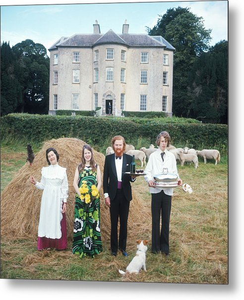 Young Men Metal Print featuring the photograph Longfield House And Staff by Slim Aarons