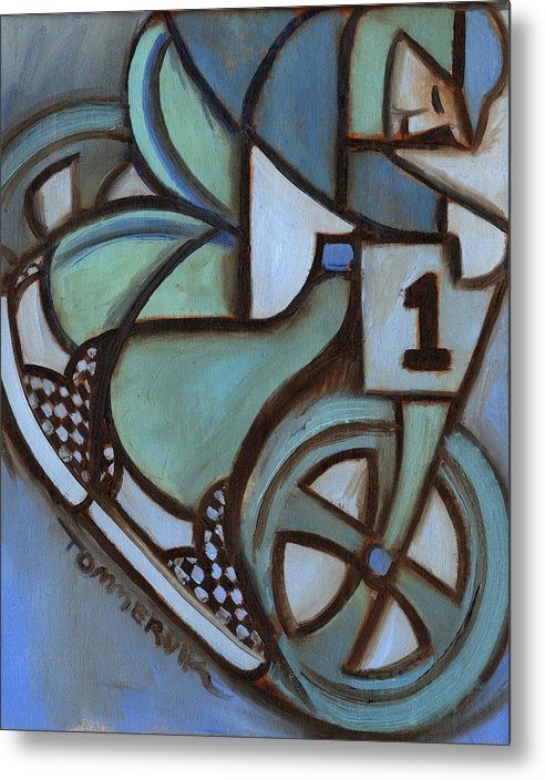 Bmx Metal Print featuring the painting Bmx Freestyle Art Print by Tommervik