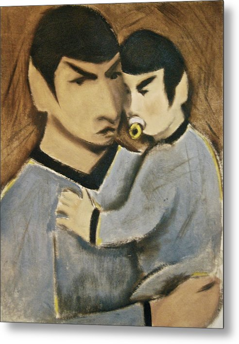 Spock Metal Print featuring the painting Baby Spock Art Print by Tommervik