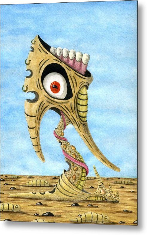 Eye Metal Print featuring the painting Season Of The Liar by Jason Darge