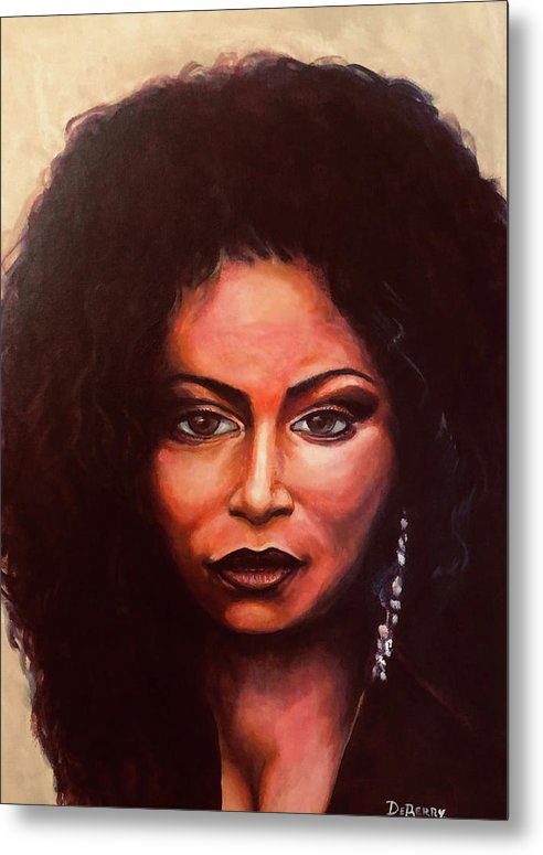 Chaka: Original 24x36in. Oil On Canvas Panel By Lloyd Deberry Metal Print featuring the painting Chaka by Lloyd DeBerry