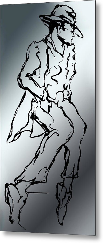 Mr Bojangles: The Salute To All Song And Dance Men. Metal Print featuring the digital art Mr. Bojangles by Lloyd DeBerry
