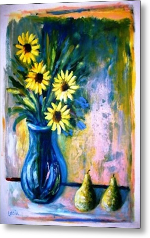 Floral Metal Print featuring the print French Vase by Carl Lucia