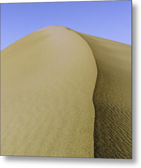Death Valley Metal Print featuring the photograph Dunes Three by Paul Basile
