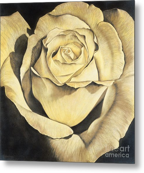 Lawrence Supino Metal Print featuring the painting Yellow Rose by Lawrence Supino