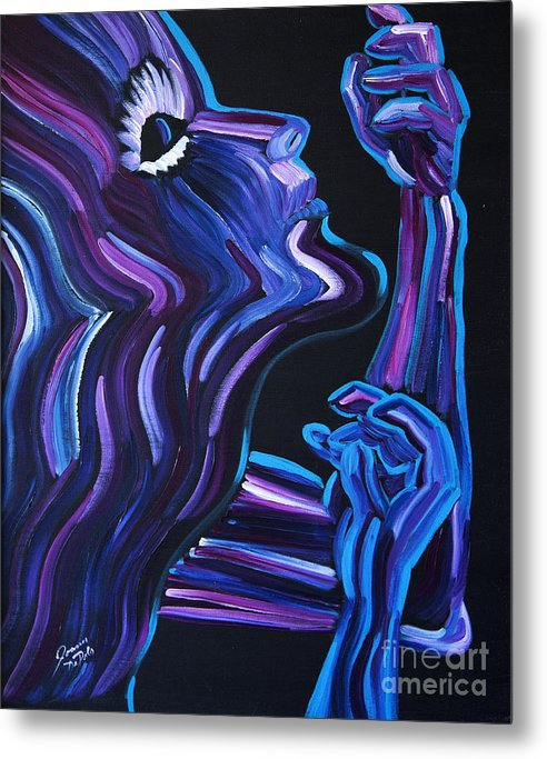 Figure Metal Print featuring the painting Reach by JoAnn DePolo