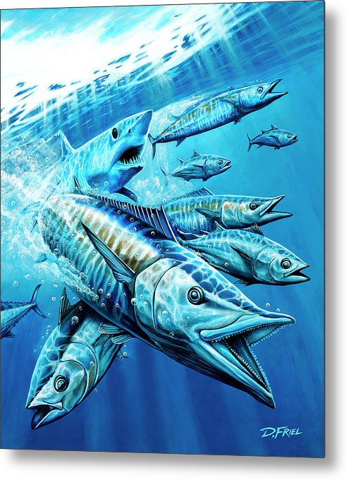 Salt Weapons Winters 2013 Marlin Magazine Metal Print featuring the painting Salt Weapons by Dennis Friel