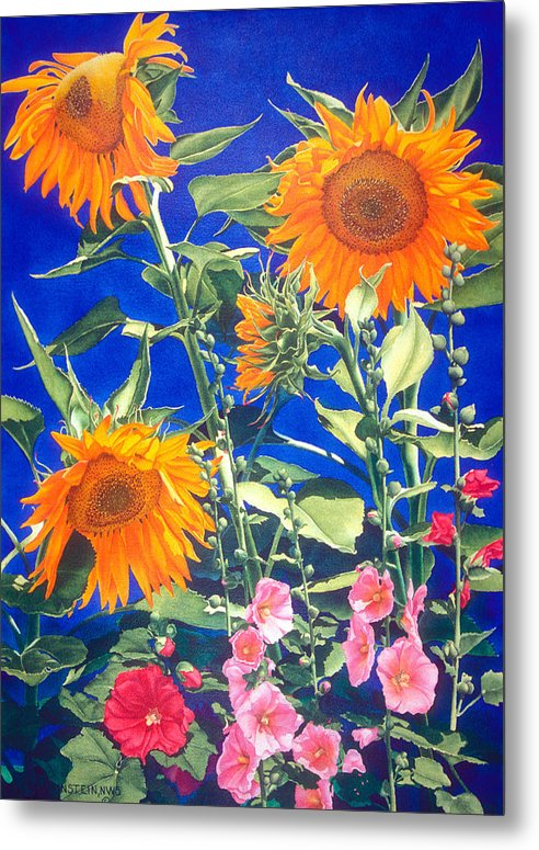 Floral Metal Print featuring the print Suncatchers by Mary Backer