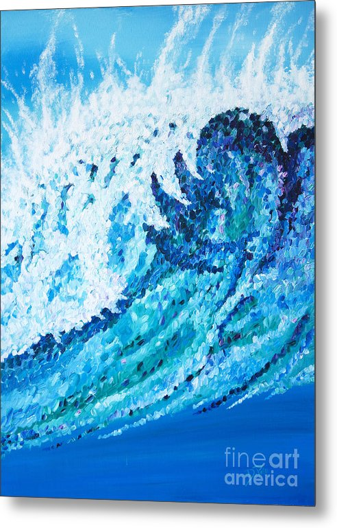 Ocean Metal Print featuring the painting Watercolor by JoAnn DePolo