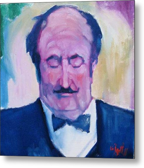 Figure Metal Print featuring the painting The Waiter by Kevin McKrell