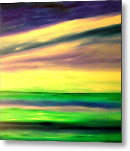 Caribbean Metal Print featuring the painting Green Sea by Sula Chance