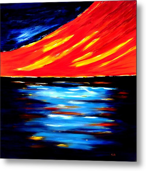 Caribbean Metal Print featuring the painting Nariva Swamp by Sula Chance