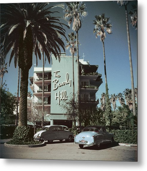 1950-1959 Metal Print featuring the photograph Beverly Hills Hotel by Slim Aarons