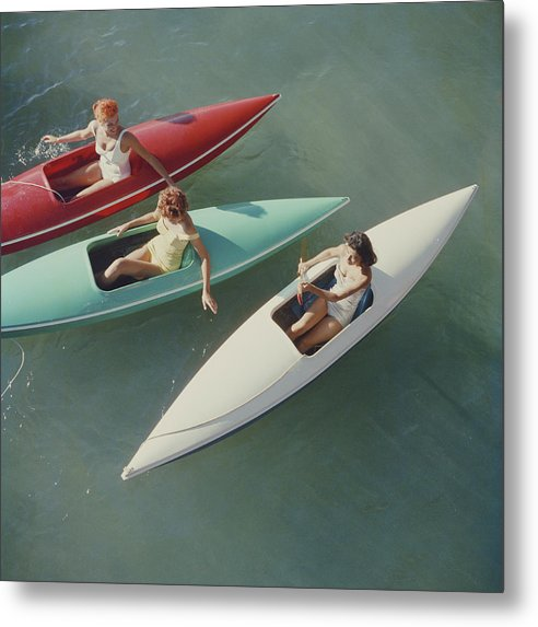 People Metal Print featuring the photograph Lake Tahoe Trip by Slim Aarons