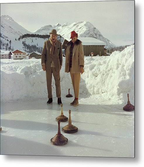 Curling Metal Print featuring the photograph Curling by Slim Aarons