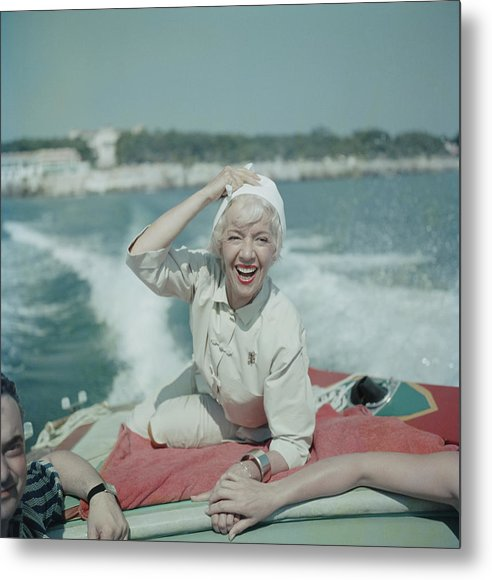 1950-1959 Metal Print featuring the photograph Lily On The Riviera by Slim Aarons