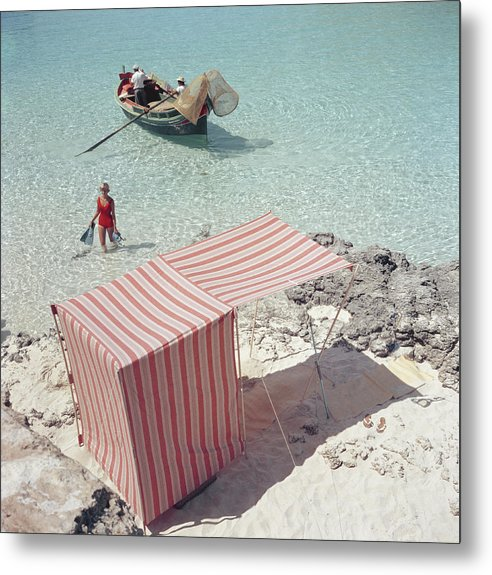 People Metal Print featuring the photograph Marietine Birnie, Blue Lagoon by Slim Aarons
