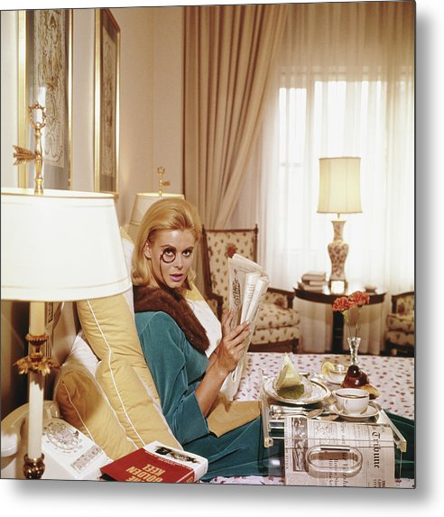 People Metal Print featuring the photograph Monocled Miss by Slim Aarons