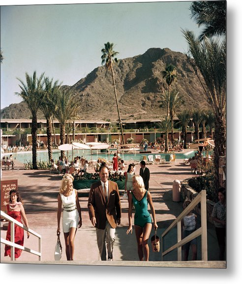 People Metal Print featuring the photograph Mountain Shadows Resort by Slim Aarons