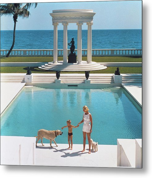 Pets Metal Print featuring the photograph Nice Pool by Slim Aarons