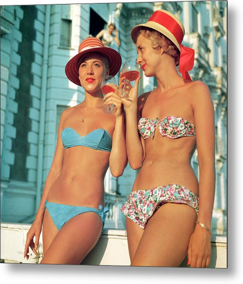 1950-1959 Metal Print featuring the photograph Sundowners by Slim Aarons