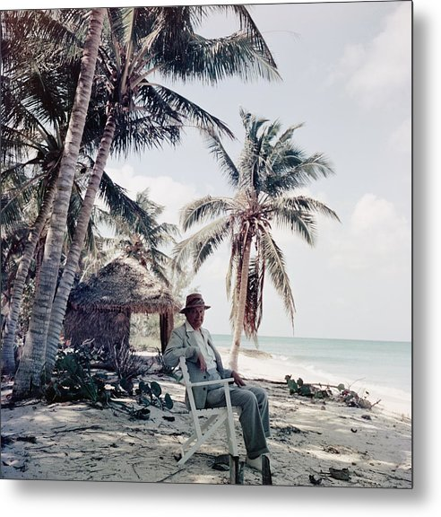 Beach Hut Metal Print featuring the photograph T. S. Eliot by Slim Aarons