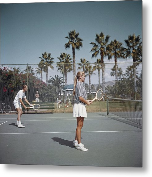 Tennis In San Diego Metal Print