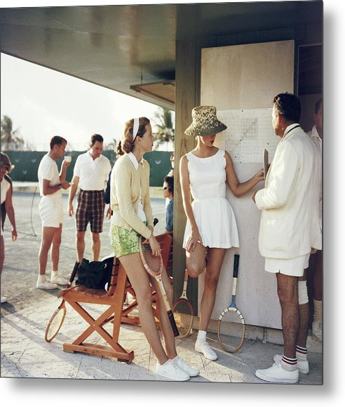 Tennis Metal Print featuring the photograph Tennis In The Bahamas by Slim Aarons