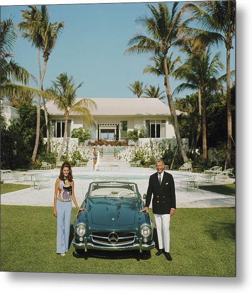 Finance And Economy Metal Print featuring the photograph The Fullers by Slim Aarons