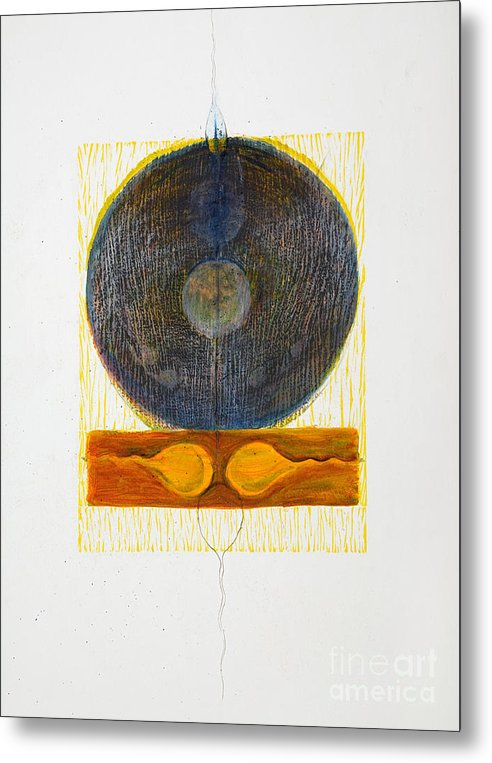 Metal Print featuring the drawing Reciprocal End by Asma Hashmi