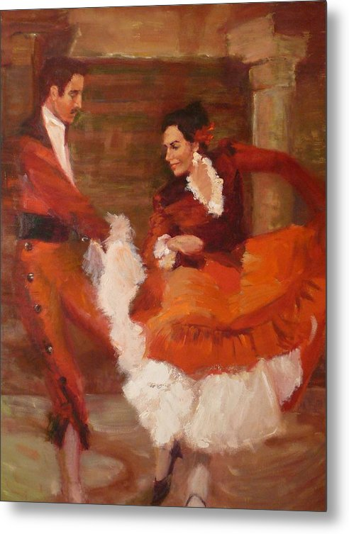 Spanish Metal Print featuring the painting Spanish Dancers by Irena Jablonski