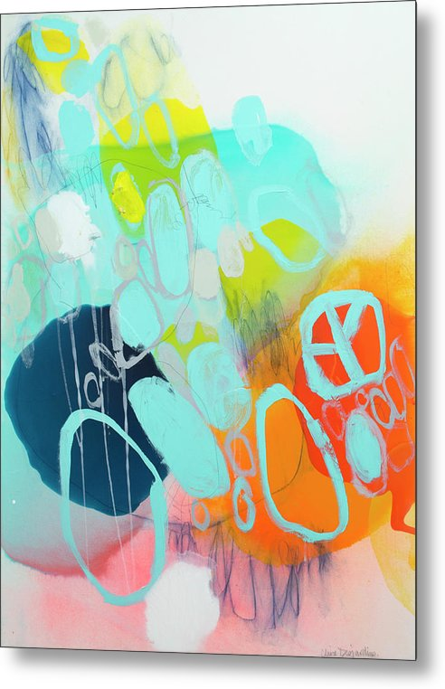 Abstract Metal Print featuring the painting The Right Thing by Claire Desjardins