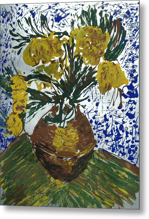 Flowers Metal Print featuring the painting Van Gogh by J R Seymour