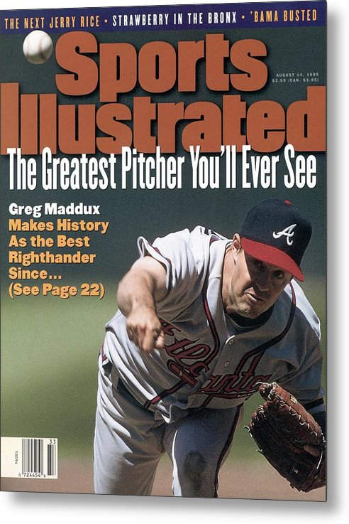 Candlestick Park Metal Print featuring the photograph Atlanta Braves Greg Maddux... Sports Illustrated Cover by Sports Illustrated
