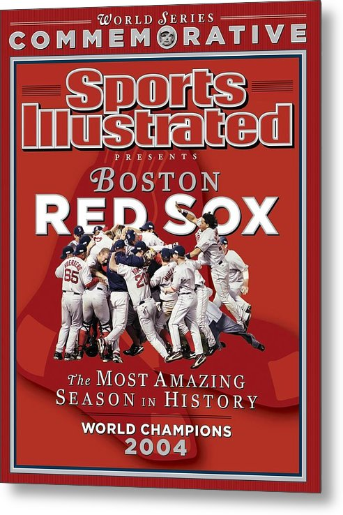St. Louis Cardinals Metal Print featuring the photograph Boston Red Sox Vs St. Louis Cardinals, 2004 World Series Sports Illustrated Cover by Sports Illustrated