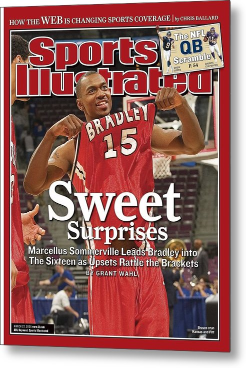 Magazine Cover Metal Print featuring the photograph Bradley Marcellus Sommerville, 2006 Ncaa Playoffs Sports Illustrated Cover by Sports Illustrated
